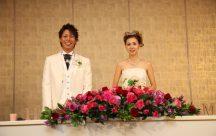 入場後、ふたりの笑顔が溢れます❤